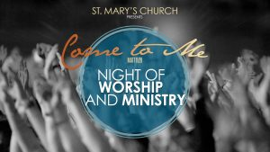 Night of Worship and Ministry Poster
